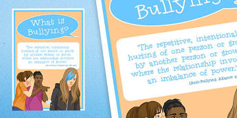 Anti-Bullying Week: What is Bullying? Poster - anti-bullying week, what, bullying, poster, display