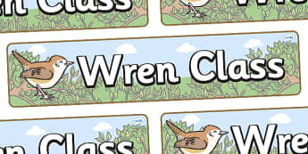 Wren Themed Classroom Display Banner - Themed banner, banner, display banner, Classroom labels, Area labels, Poster, Display, Areas