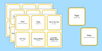 World Book Day Card on Your Face Game - world book day, card on your face, card, face, game