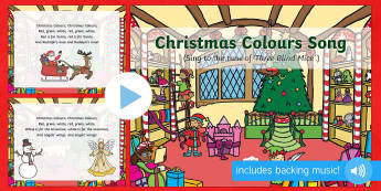 Christmas Colours Song PowerPoint - christmas, colours, song, powerpoint, presentation, sing