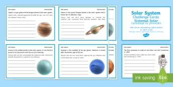 Finish the Solar System Fact Cards English/Romanian - Finish the Solar System Fact Cards - solar system worksheets, planet worksheets, planet fact sheets,