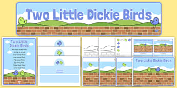 Two Little Dickie Birds Resource Pack - two little dickie birds, resource pack, pack of resource, themed resource pack, two little dickie birds pack, rhyme