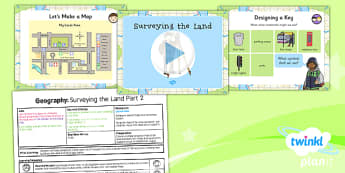 PlanIt - Geography Year 3 - Land Use Lesson 4: Surveying the Land Part 2 Lesson Pack
