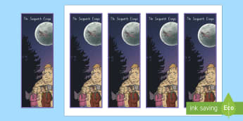 Years 3 and 4 Chapter Chat Bookmarks To Support Teaching On The Sasquatch Escape - chapter chat, years 3 & 4, literacy, reading, suzanne selfors