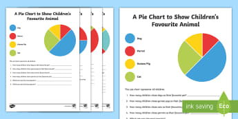Pie Chart Interpretation Question Cards - maths, mathematics, numeracy, activity sheets, fast finisher, division, sharing, partitioning, numbe