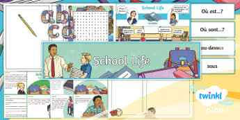 PlanIt - French Year 5 - School Life Additional Resources - french, languages, grammar, school, subjects, lessons, questions, school life, planit