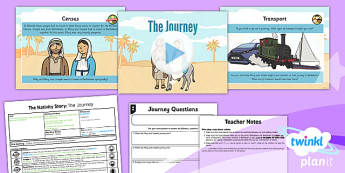 PlanIt - RE Year 3 - The Nativity Story Lesson 2: The Journey Lesson Pack - Bethlehem, donkey, census, taxes, Jesus