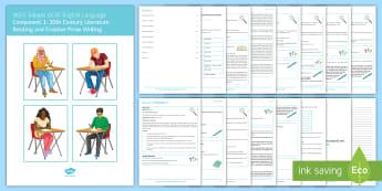 EDUQAS GCSE English Language Paper 1 Revision Booklet - English language GCSE Exam Papers, WJEC, EDUQAS, revision, paper one, reading, writing, 20th century
