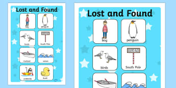 Vocabulary Poster to Support Teaching on Lost and Found - vocab poster, story books