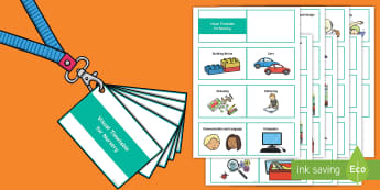 Lanyard Visual Timetable for Nursery Cards - Visual Timetable Posters for Nursery - visual timetable, posters, display, nursery,visual timetaable