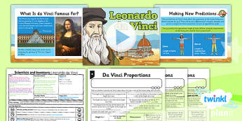 PlanIt - Science Year 5 - Scientists and Inventors Lesson 4: Leonardo da Vinci Lesson Pack - Leonardo da Vinci, anatomy, human body, measuring, proportion
