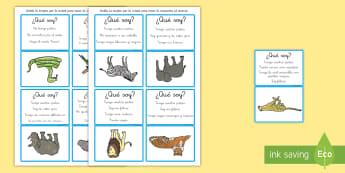 Juego: ¿Qué soy? - Animales salvajes - inferir, comunicación, NEE, autismo, ¿Qué soy?, juego, animales, salvajes, inferencias, informaci