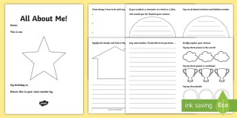 LKS2 All About Me Transition Booklet - moving class, new teacher, home school leaflet, parents, KS2
