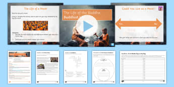 Buddhist Life Lesson Pack - Buddhism; Five Precepts; Monk; Monastry