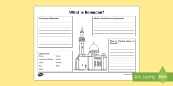 KS2 What is Ramadan? Activity Sheet - Ramadan, (26.5.17), Islam, Muslim, religion, religious education, religious beliefs, rituals, religi