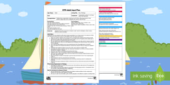 EYFS River Challenge Adult Input Plan - EYFS Water, water cycle, rain, rivers, sea, oceans, problem solving, working together, fish, carry,