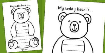My Teddy Bear is Worksheet - bear, teddy bear, worksheet, sheet