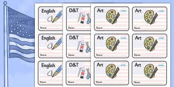 USA Themed Editable Book Labels - Themed Book label, label, subject labels, exercise book, workbook labels, textbook labels