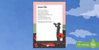 ANZAC Ode Poem - Te Reo Māori - New Zealand, Anzac Day, 25 April, ANZAC, Poppies, World War 1, World War 2, Gallipoli, ANZAC Ode, Te