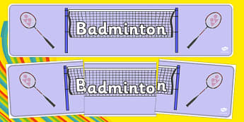 Rio 2016 Olympics Badminton Display Banner - Badminton, Olympics, Olympic Games, sports, Olympic, London, 2012, display, banner, poster, sign, activity, Olympic torch, events, flag, countries, medal, Olympic Rings, mascots, flame, compete