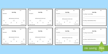General Exit Slip Question Cards - lesson tools, assessment, plenary, children's learning