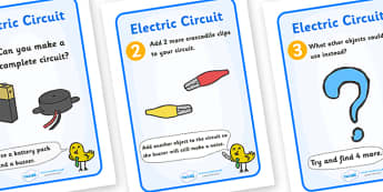 Electric Circuit Activity Sheet Pack (Buzzer) - Electric, circuit, worksheet, safety, safe, cards, word card, flashcards, writing aid, power, electricity, battery