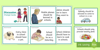 Cfe Second Level Discussion Prompt Cards - second level, listening and talking, prompt cards, discussion prompts, debate topics,Scottish