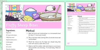 Fluffy Sheep Recipe - cooking, spring, eyfs, baking, fluffy sheep, recipe