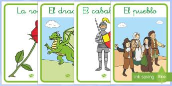Imágenes de exposición: San Jorge y el dragón - San Jorge, sant jordi, leyenda, leyendas, cuentos, cuentos tradicionales, Saint george spanish, jorg