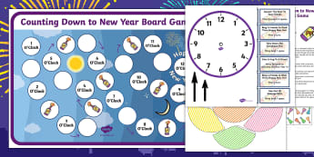 Counting Down to New Year Board Game - counting, new years, game