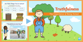 Truthfulness and Honesty PowerPoint - lie, lying, behaviour, SEAL, PSHCE