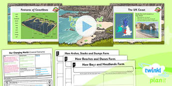 PlanIt - Geography Year 6 - Our Changing World Lesson 2: Coastal Features Lesson Pack - geography, coast, physical, human, changes