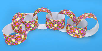 Rangoli Pattern Paper Chain - hinduism, hindu, crafts, art, DT
