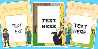 Rapunzel Editable Notes from Teacher - rapunzel, notes, teacher
