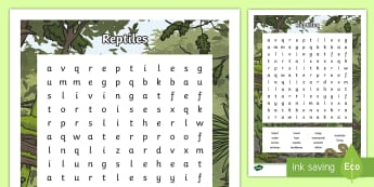 Australian Animals Years 3-6 Reptiles Word Search-Australia - Australian Animals, reptiles, cloze passages, activity sheets, word search, research, fast finisher,