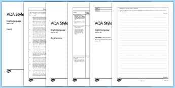 GCSE English Language Exam Paper 2 AQA - gcse, exam, english, language