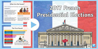 French Presidential Election PowerPoint - French Presidential Election, French Election, election, France, French, 2017 election