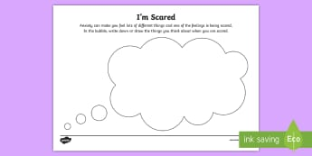 I'm Scared Activity Sheet - anxiety, nervous, worry, worried, Worksheet, afraid