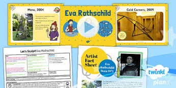 PlanIt - Art KS1 - Let's Sculpt Lesson 6: Eva Rothschild Lesson Pack
