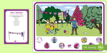 Phase 1 Phonics Alliteration 'p' Can You Find...? Poster and Prompt Card Pack - EYFS, Aspect 5, letters and sounds, phoneme, initial sound,