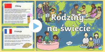 Prezentacja PowerPoint Rodziny na świecie - rodzina, rodziny, świat, kultura, azja, afryka, europa, międzykulturowe, interkulturowe, języków