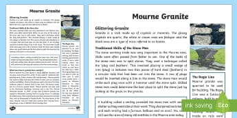 Mourne Granite Fact File - World Around Us, Mourne, granite, mountains, quarry, Northern Ireland, stone, geology