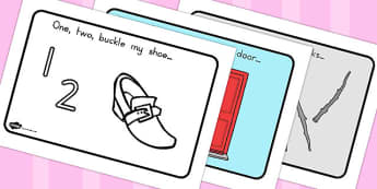 One Two Buckle My Shoe Story Sequencing A4 - australia, story