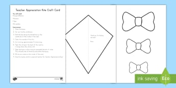 Teacher Appreciation Kite Card Craft - Teacher Appreciation Week, Teacher Appreciation, Teacher Gift, kite, card, card making