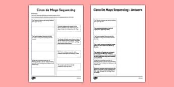 Cinco de Mayo Sequencing Activity - usa, america, cinco de mayo, sequencing, activity