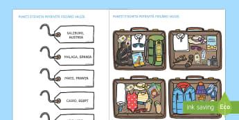 Făcând bagajele pentru călătorii în lume - Activitate - vreme, climă, climatele lumii, fenomene meteorologice, română, materiale,Romanian