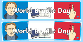 World Braille Day Banner