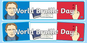 World Braille Day Banner