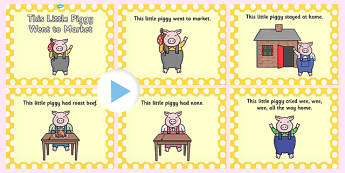 This Little Piggy PowerPoint - this little piggy, this little piggy went to market, nursery rhymes, nursery rhyme powerpoint, little piggy powerpoint