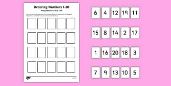 Ordering Numbers Game 1 20 Polish Translation-Polish-translation